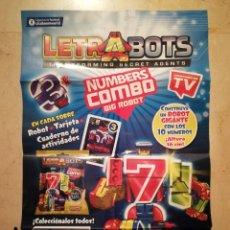 Carteles Publicitarios: CARTEL ORIGINAL -A2- LETRABOTS - INFANTIL - ROBOTS TRANSFORMERS. Lote 118957499