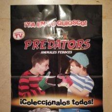 Carteles Publicitarios: CARTEL ORIGINAL -A2- KREATUREX PREDATORS - INFANTIL - ANIMALES FEROCES. Lote 118957507