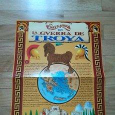 Carteles Publicitarios: CARTEL CORTYLANDIA EN LA GUERRA DE TROYA - CORTE INGLÉS - 1996. Lote 119125599