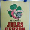 Carteles Publicitarios: RECLAMOS JULES GERZON S.A. - MADRID - BARCELONA - AÑOS 1960. Lote 119859919