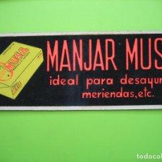 Carteles Publicitarios: CARTELITO PUBLICITARIO. JABÓN MANJAR DE MUSA. MORENO S.A. CORDOBA. Lote 120213839