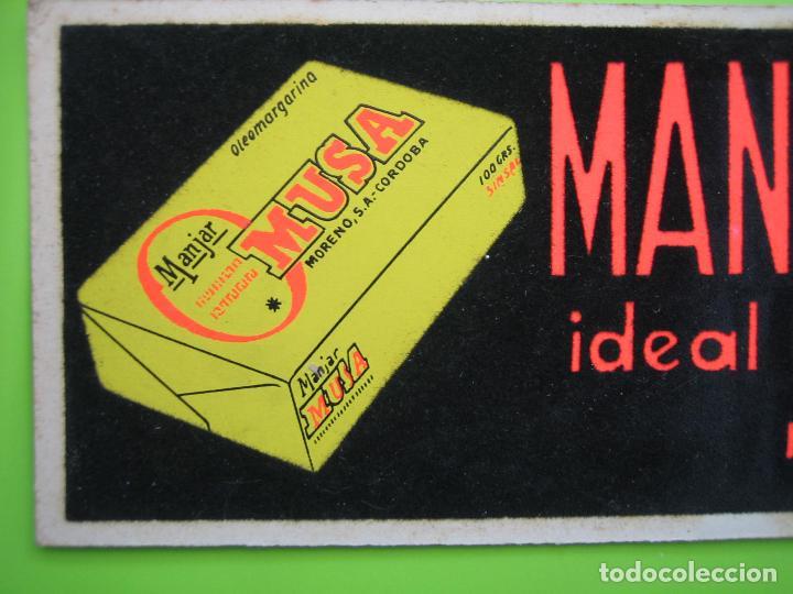 Carteles Publicitarios: Cartelito publicitario. Jabón Manjar de Musa. Moreno S.A. Cordoba - Foto 2 - 120213839