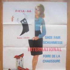 Carteles Publicitarios: CARTEL PUBLICIDAD ELDA 1966, VII FERIA INTERNACIONAL DEL CALZADO, CF51. Lote 120312691