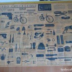 Carteles Publicitarios: CARTEL CATÁLOGO DE VENADO CRUCELEGUI EIBAR. Lote 120403323