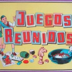 Affiches Publicitaires: CARTEL LAMINA JUEGOS REUNIDOS, IMPECABLE , AÑOS 50, CA1. Lote 120925471