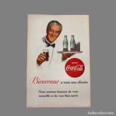 Carteles Publicitarios: MUY RARO ! ORIGINAL CARTEL DE PROPAGANDA DE CARTÓN DE COCA COLA. FRANCIA 1950 - 1959 (BRD). Lote 121541995