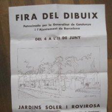 Carteles Publicitarios: CARTELL FIRA DEL DIBUIX-ANY 1932-JARDINS SOLER I ROVIROSA-BARCELONA-34 X49 CM-VER FOTOS-(V-14.575). Lote 121804319