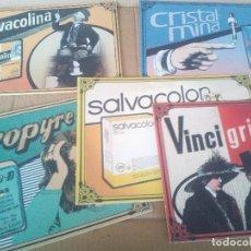 Carteles Publicitarios: LOTE 5 CARTELES FARMACIA NA PROPYRE ,SALVACOLON, VINCIGRIP,SALVACOLINA,CRISTALMINA. Lote 122039467