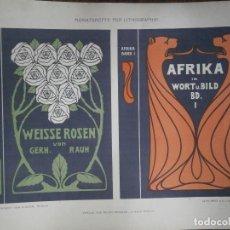 Carteles Publicitarios: AFRIKA IN WORT U. BILD BD. I. Lote 122721027