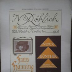 Carteles Publicitarios: N. ROHLICH,,,,,,,MAX GUNTHER. Lote 122722879