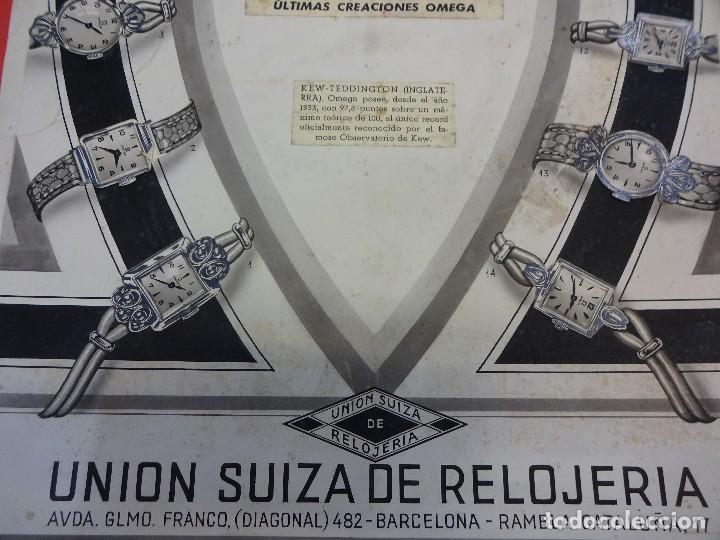 Carteles Publicitarios: Reloj OMEGA. Interesante original Agencia publicidad. Publicado en LA VANGUARDIA. 44 x 31 ctms. - Foto 2 - 122954403