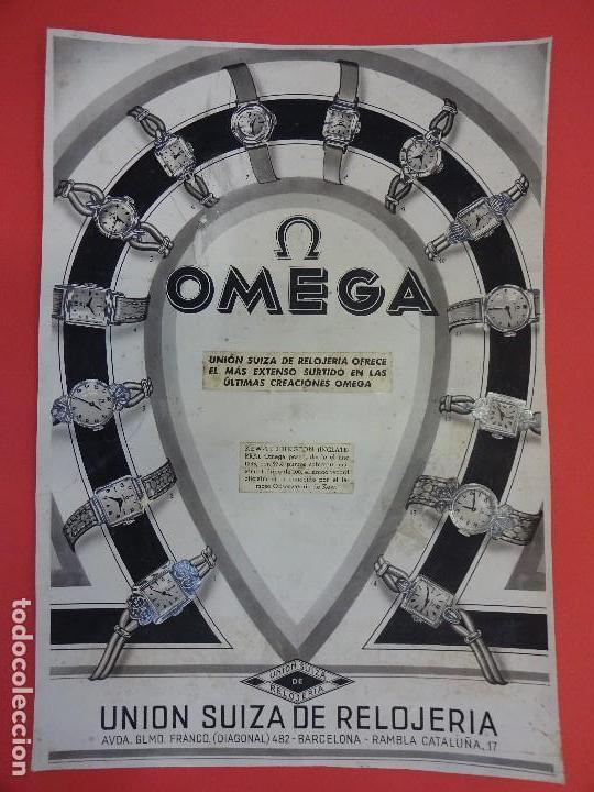 Carteles Publicitarios: Reloj OMEGA. Interesante original Agencia publicidad. Publicado en LA VANGUARDIA. 44 x 31 ctms. - Foto 3 - 122954403