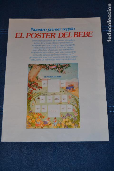 POSTER DEL BEBE DE LA REVISTA CRECER FELIZ (Coleccionismo - Carteles Gran Formato - Carteles Publicitarios)