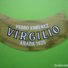 Carteles Publicitarios: ETIQUETA DE VINO VIRGILIO. Lote 124389411