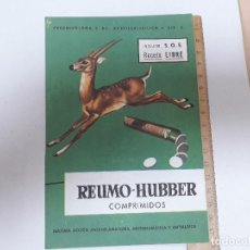 Carteles Publicitarios: REUMO HUBBER COMPRIMIDOS Y RELAXONA. Lote 125403699
