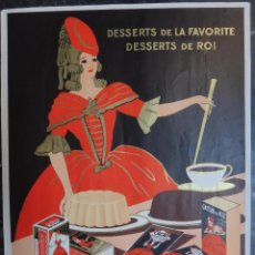 Affiches Publicitaires: CARTEL PUBLICIDAD CHOCOLATE , CHOCOLATES LA FAVORITE , FRANCES FRANCIA , PAPEL , ORIGINAL . Lote 127847195