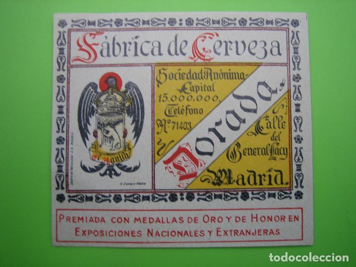 ANTIGUA ETIQUETA DE CERVEZA AGUILA (Coleccionismo - Carteles Gran Formato - Carteles Publicitarios)