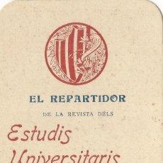 Affissi Pubblicitari: EL REPARTIDOR DE LA REVISTA DELS ESTUDIS UNIVERSITARIS CATALANS VOS DESITJA FELISSAS FESTAS DE NADAL. Lote 128363355
