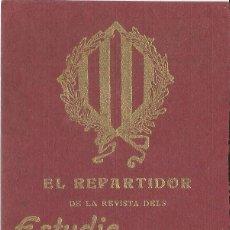 Affissi Pubblicitari: EL REPARTIDOR DE LA REVISTA DELS ESTUDIS UNIVERSITARIS CATALANS VOS DESITJA FELISSAS FESTAS DE NADAL. Lote 128364091
