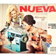 Carteles Publicitarios: DISPLAY CARTEL EXPOSITOR PUBLICIDAD MAQUINAS DE COSER ALFA ALFAMATIC 109 AÑO 1972. Lote 128589951