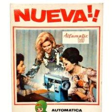 Carteles Publicitarios: DISPLAY CARTEL EXPOSITOR PUBLICIDAD MAQUINAS DE COSER ALFA ALFAMATIC 109 AÑO 1971. Lote 128589971