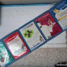 Carteles Publicitarios: CARTEL PUBLICIDAD CABALLERO LOTE DE 5 PINTADO A MANO PINTURA LOS 7 SORTEOS VESPA RENAULT ORIGINAL. Lote 128806683