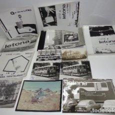 Carteles Publicitarios: LOTE DE UNAS 13 FOTOGRAFIAS DE LA MARCA DE LECHE LETONA. Lote 128935123