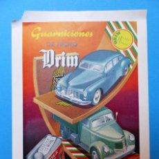 Affissi Pubblicitari: DRIM, GUARNICIONES DE FRENO, BOIX & PELLICER ACCESORIOS PARA AUTOMOVIL, BARCELONA, AÑOS 1930-40. Lote 128999735