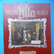 Carteles Publicitarios: PAPELERIA VILA, VALENCIA, AÑOS 1950. Lote 129003703
