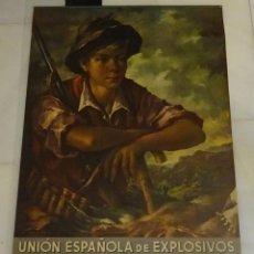 Carteles Publicitarios: CALENDARIO / ALMANAQUE UNIÓN ESPAÑOLA DE EXPLOSIVOS 1964. E. COMERCIALES. BILBAO. FORMATO 51 X 89 CM. Lote 130723949