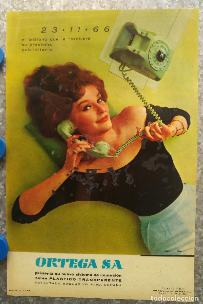 IMPRENTA ORTEGA EL TELEFONO QUE LE RESOLVERA SU PROBLEMA PUBLICITARIO SISTEMA IMPRESION PLASTICO TR (Coleccionismo - Carteles Gran Formato - Carteles Publicitarios)