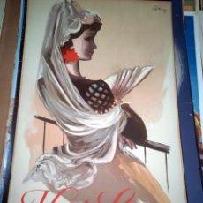 Carteles Publicitarios: ORIGINAL VINTAGE 1950S TRAVEL POSTER SPAIN VISIT SPAIN. Lote 130978232