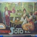Carteles Publicitarios: TINTORERIA SOTO, EL MOCADOR DE SANT DONIS - AÑOS 1930-40 - ILUSTRADOR: J. BARREIRA. Lote 131483170