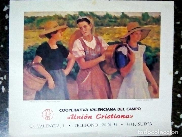 CARTEL LITOGRAFIA DE OBRA - DONES QUE VAN A COLLIR TOMATIQUES- ALFREDO CLAROS- 1955. TAMAÑO 54X46 CM (Coleccionismo - Carteles Gran Formato - Carteles Publicitarios)