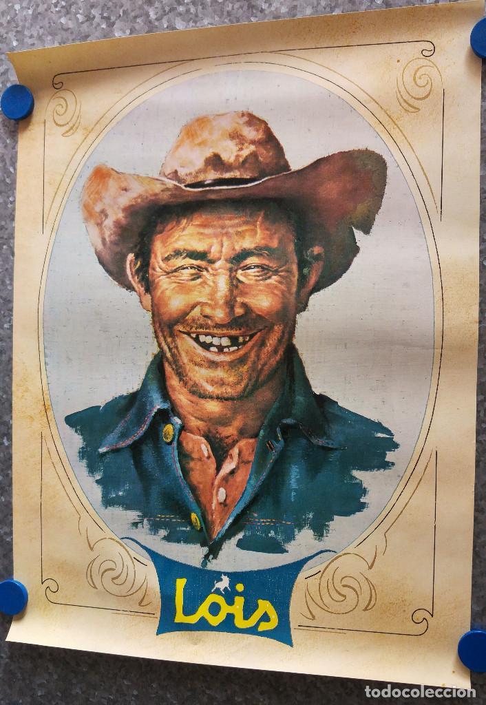 CARTEL LOIS, TEJANOS, JEANS, VAQUERO AÑOS 80 (Coleccionismo - Carteles Gran Formato - Carteles Publicitarios)