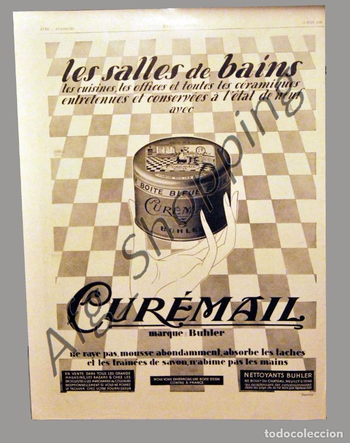 SALES DE BAÑO ´´CURÉMAIL´´ - 30 X 40 CM - AÑO 1929 - LAMINA ORIGINAL (Coleccionismo - Carteles Gran Formato - Carteles Publicitarios)