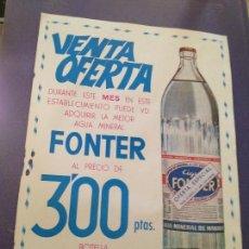 Affiches Publicitaires: VENTA OFERTA-FONTER GERONA-1969. Lote 133280518
