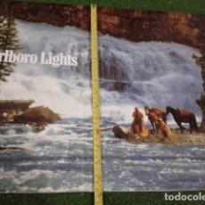 Carteles Publicitarios: POSTER CARTEL PUBLICIDAD ( MARLBORO LIGHTS ) ANTIGUO DE 60X40 CM. Lote 133774782