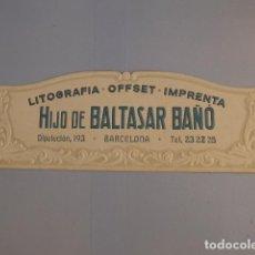 Carteles Publicitarios: * ANTIGUO CARTEL CARTON TROQUELADO DE PUBLICIDAD DE BALTASAR BAÑO, ORIGINAL. PUBLICTARIO. ZX. Lote 134077446