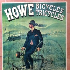 Carteles Publicitarios: ANTIGUO POSTER DE MUSEO HOLANDES HOWE BICYCLES TRICYCLES. Lote 135244430