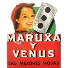 Carteles Publicitarios: CARTEL DISPLAY PUBLICIDAD CUCHILLAS HOJAS DE AFEITAR MARUXA Y VENUS. AÑOS 40 - 50. Lote 136654178