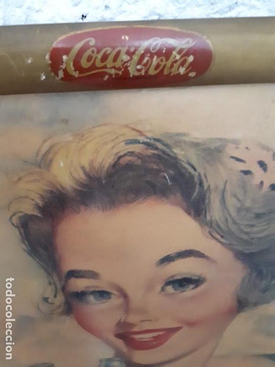 Carteles Publicitarios: Cartel Coca-Cola Español Años 50s. Six Barral. Cartón. Auténtico. Marco original. Super difícil - Foto 4 - 138771394