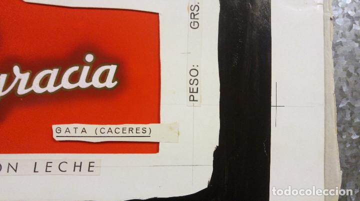Carteles Publicitarios: CHOCOLATE SANTA ENGRACIA. GATA, CACERES. ORIGINAL PINTADO A MANO PRUEBA IMPRENTA - Foto 7 - 138796126