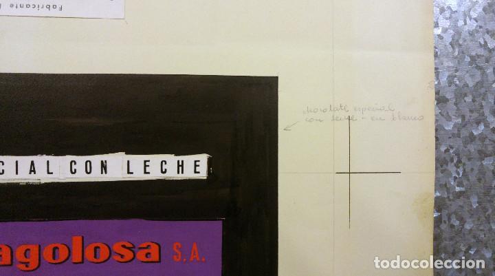 Carteles Publicitarios: CHOCOLATE PEÑAGOLOSA, CASTELLON. ORIGINAL PINTADO A MANO PRUEBA IMPRENTA - Foto 6 - 138796438