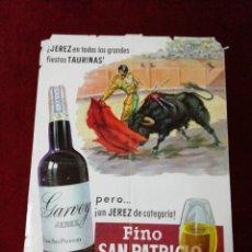 Carteles Publicitarios: ANTIGUO CARTEL FINO SAN PATRICIO. Lote 140095981