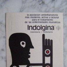 Carteles Publicitarios: CARTEL PUBLICITARIO INDOLGINA. BIOHORM. 21 X15 CM.. Lote 139465334