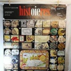 Carteles Publicitarios: CARTEL ORIGINAL VINTAGE SUIZO JUEGOS MUSEO JUEGO DE LA OCA AJEDREZ AÑO 1995-JUGUETES GRAN TAMAÑO. Lote 139467414