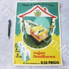 Carteles Publicitarios: CARTEL PUBLICITARIO. ILSA FRIGO. DIBUJO VILA. MODELO 29.. Lote 139780294