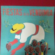 Carteles Publicitarios: FIESTAS DE LA VENDIMIA. SITGES - VILAFRANCA DEL PANADES. Lote 139808990
