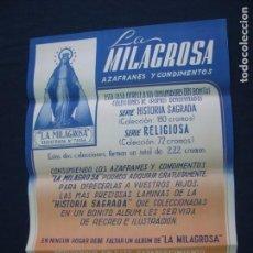 Carteles Publicitarios: AZAFRANES LA MILAGROSA, NOVELDA, CARTEL PUBLICITARIO, LIT ORTEGA VALENCIA. Lote 177438142